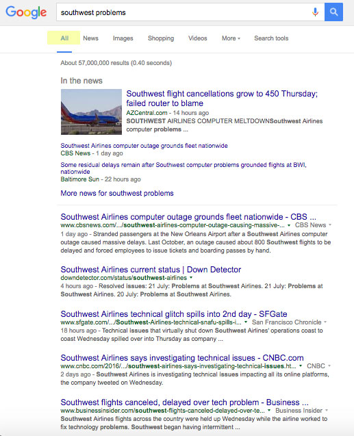 southwest-problems-google-search