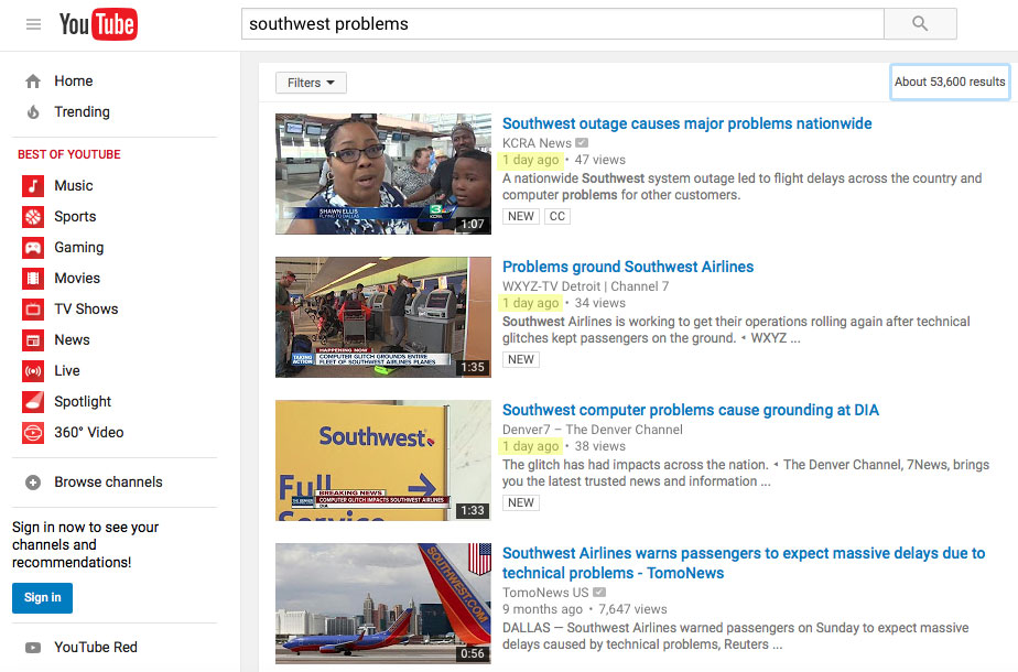 southwest-problems-youtube-search