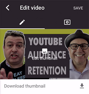 YouTube Studio App Edit Thumbnails